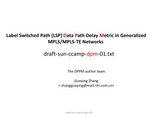 draft-sun-ccamp- dpm -01.txt