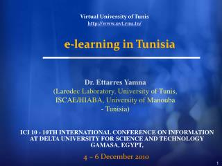 ICI 10 - 10TH INTERNATIONAL CONFERENCE ON INFORMATION AT DELTA UNIVERSITY FOR SCIENCE AND TECHNOLOGY GAMASA, EGYPT,