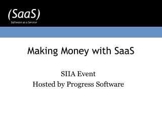 Making Money with SaaS