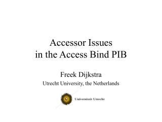 Accessor Issues in the Access Bind PIB