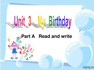 Unit  3    My  Birthday