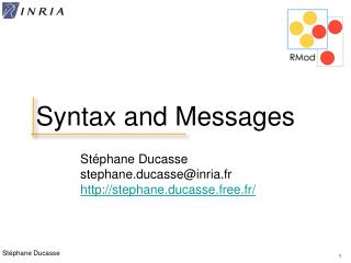 Syntax and Messages