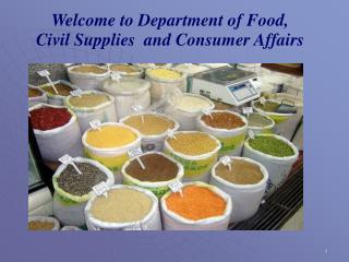 Welcome to Department of Food, Civil Supplies and Consumer Affairs