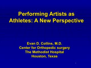 Performing Artists as Athletes: A New Perspective