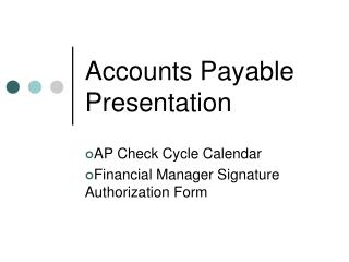 Accounts Payable Presentation