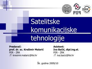 Satelitske komunikacijske tehnologije