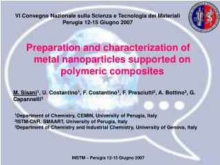 Preparation and characterization of metal nanoparticles supported on polymeric composites