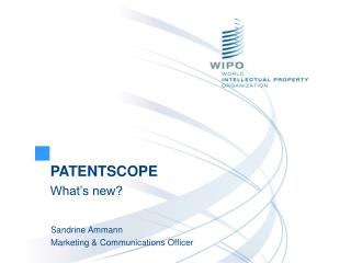 PATENTSCOPE  What's new?