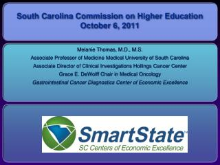 South Carolina Commission on Higher Education October 6, 2011