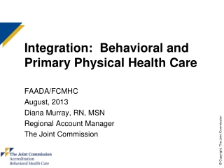Integrated Behavioral Health