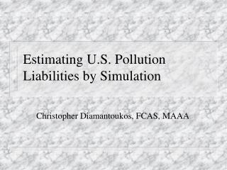 Estimating U.S. Pollution Liabilities by Simulation