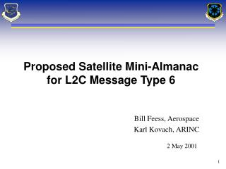 Bill Feess, Aerospace Karl Kovach, ARINC