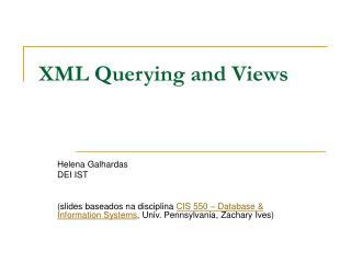 XML Querying and Views