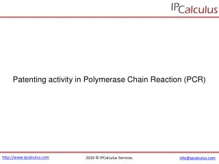 ipcalculus - polymerase chain reaction (pcr) patenting activ