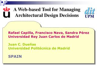 A Web-based Tool for Managing Architectural Design Decisions