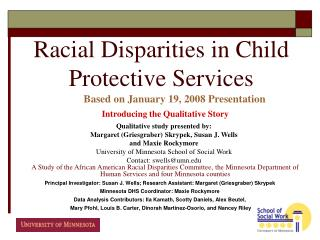 Racial Disparities in Child Protective Services
