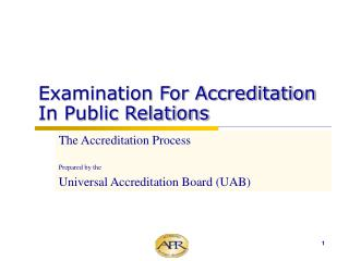 Examination For Accreditation In Public Relations