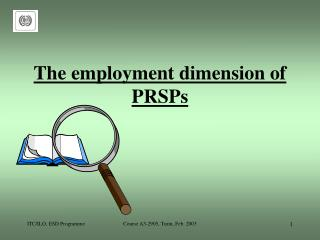 The employment dimension of PRSPs