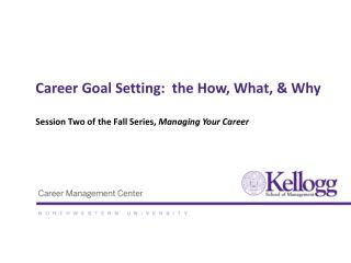 Career Goal Setting:  the How, What,  Why