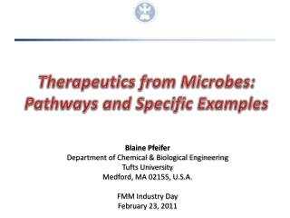 Therapeutics from Microbes: Pathways and Specific Examples