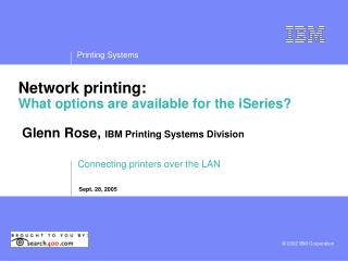 Connecting printers over the LAN