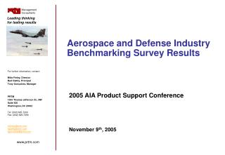 Aerospace and Defense Industry Benchmarking Survey Results