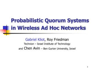 Probabilistic Quorum Systems in Wireless Ad Hoc Networks