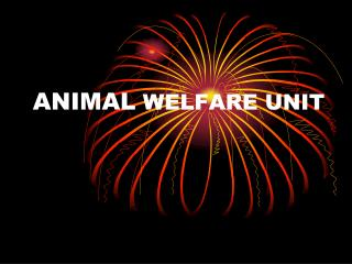 ANIMAL  WELFARE UNIT