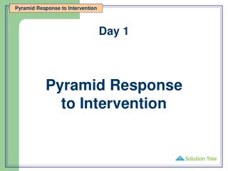 Pyramid Response  to Intervention