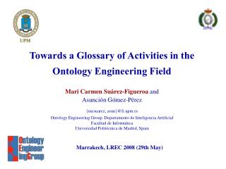 Towards a Glossary of Activities in the Ontology Engineering Field
