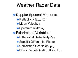 Weather Radar Data