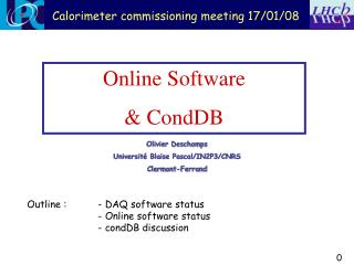 Online Software & CondDB