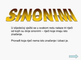 SINONIMI