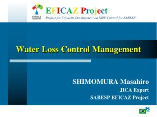Water Loss Control Management
