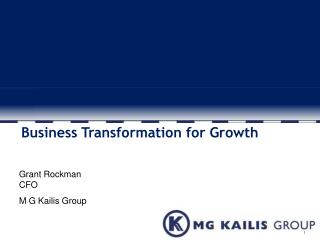 Business Transformation for Growth
