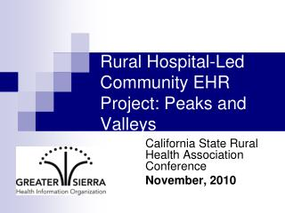 Rural Hospital-Led Community EHR Project: Peaks and Valleys