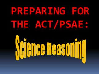 Preparing for the ACT/PSAE:
