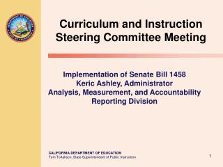 Curriculum and Instruction Steering Committee Meeting