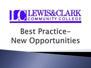 Best Practice- New Opportunities