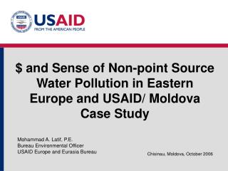$ and Sense of Non-point Source Water Pollution in Eastern Europe and USAID/ Moldova Case Study