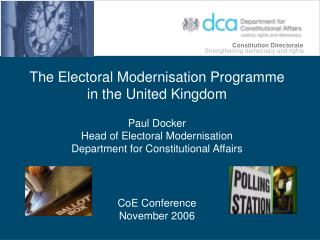 The Electoral Modernisation Programme in the United Kingdom Paul Docker