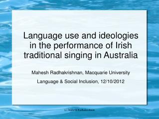 Irish language situation