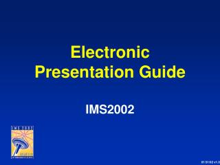 Electronic Presentation Guide