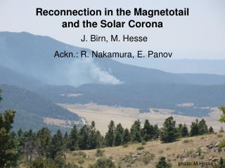 Reconnection in the Magnetotail and the Solar Corona