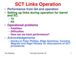SCT Links Operation