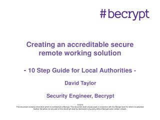 Creating an accreditable secure remote working solution   - 10 Step Guide for Local Authorities -