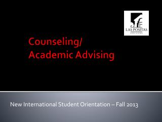 Counseling/  Academic Advising