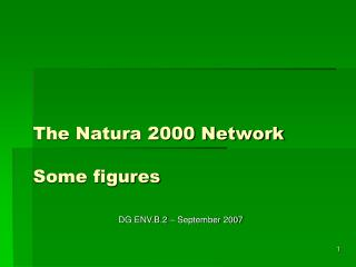The Natura 2000 Network Some figures