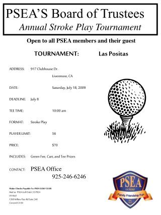 PSEA'S Board of Trustees Annual Stroke Play Tournament