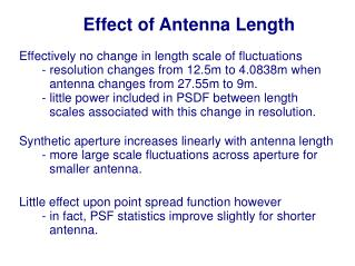 Effect of Antenna Length